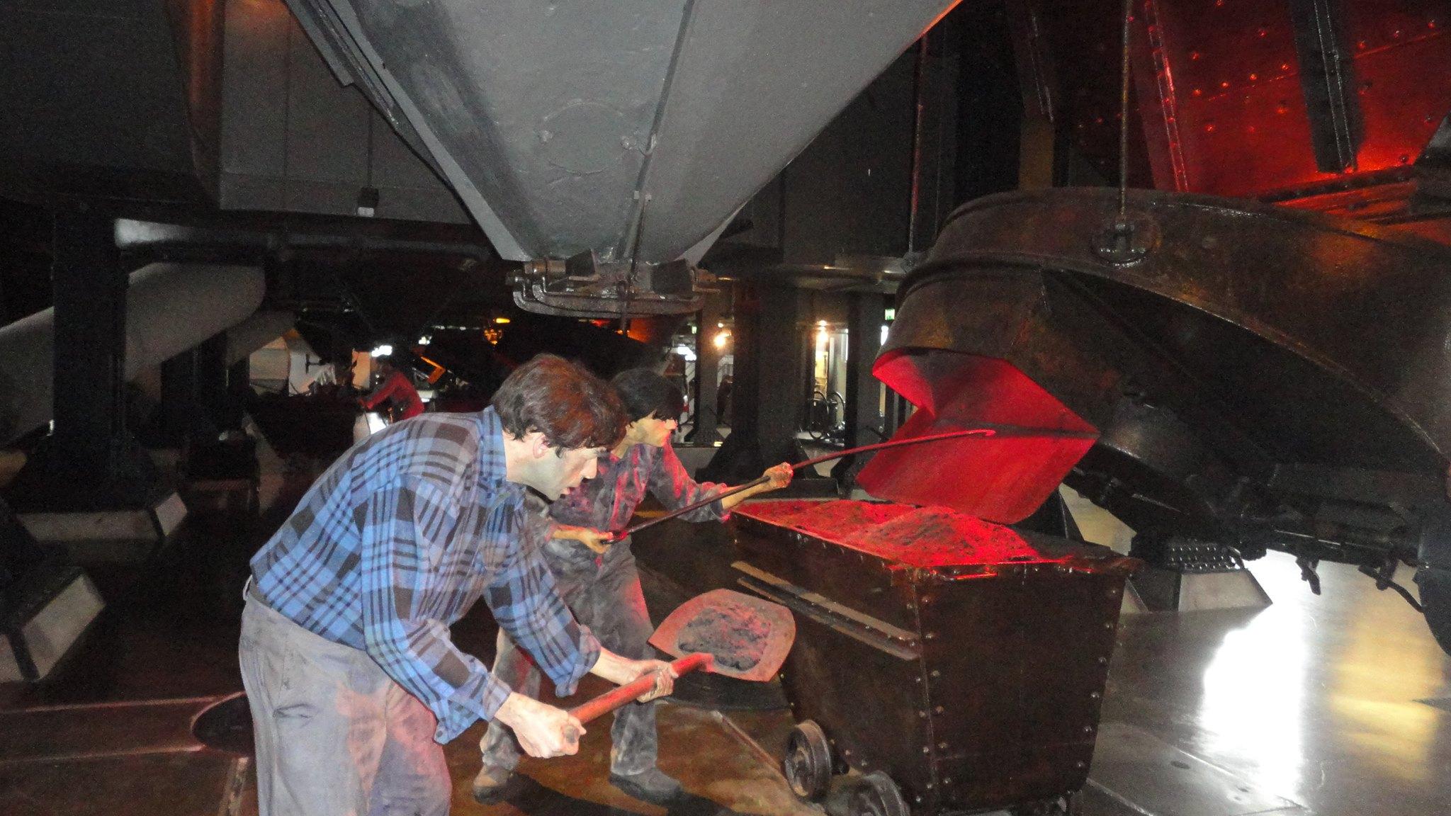 Trabalhadores na Sala dos Cinzeiros