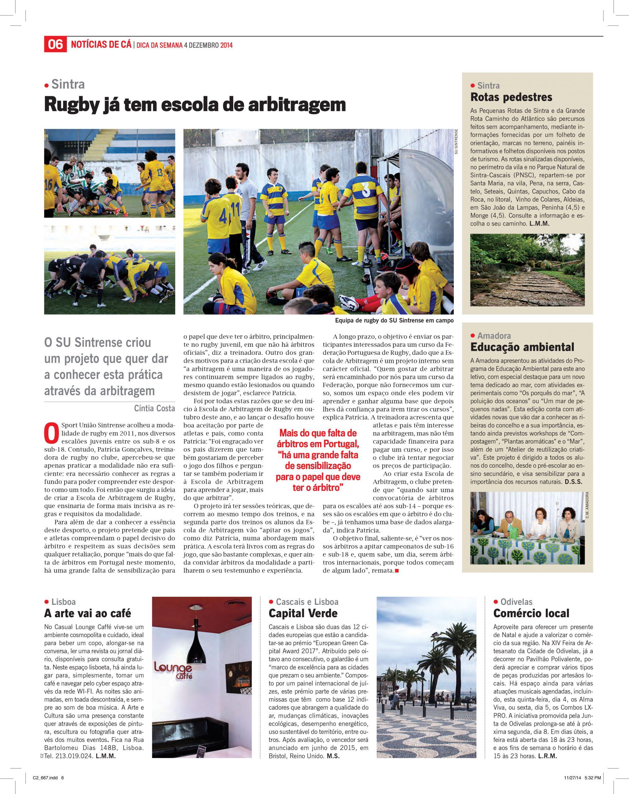 Rugby já tem escola de arbitragem