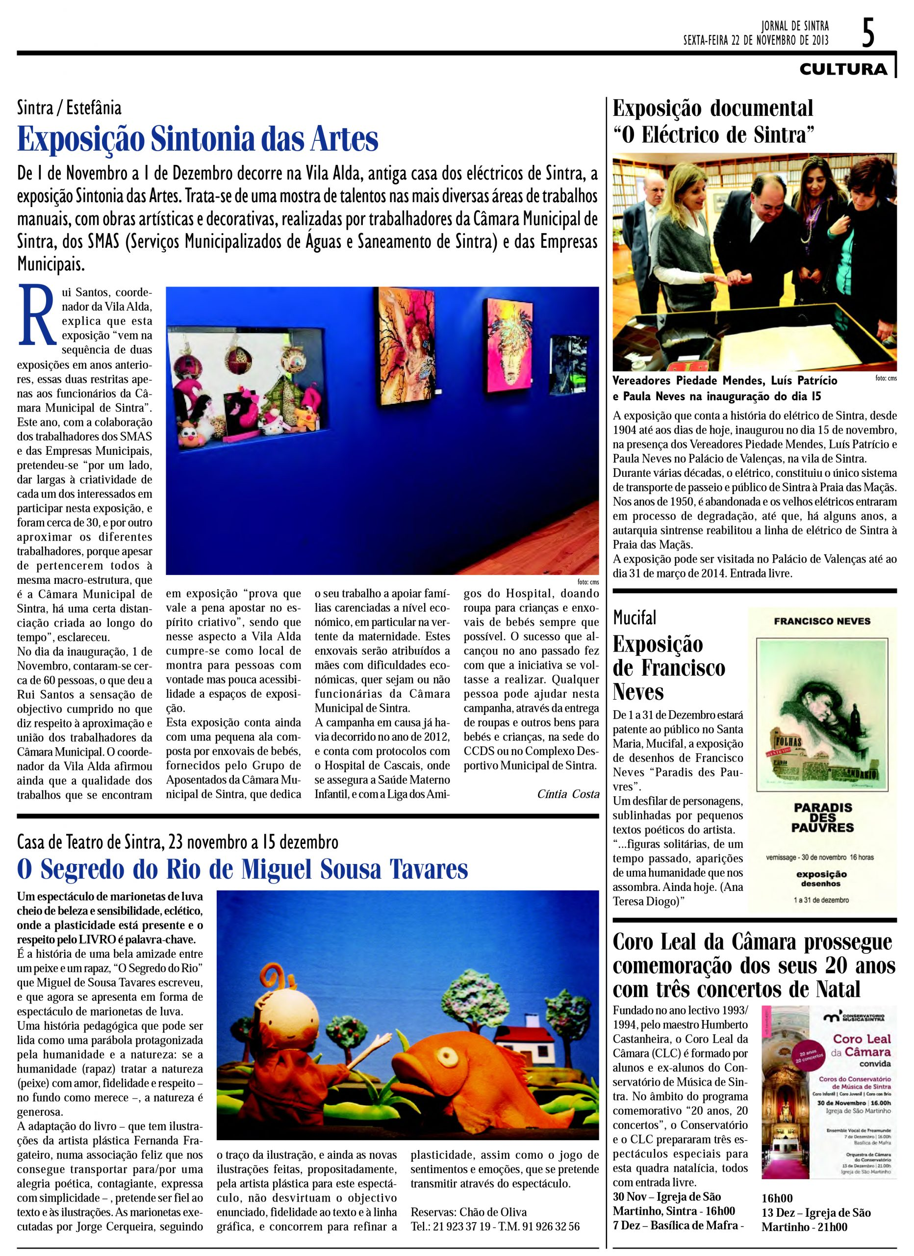 Exposição Sintonia das Artes