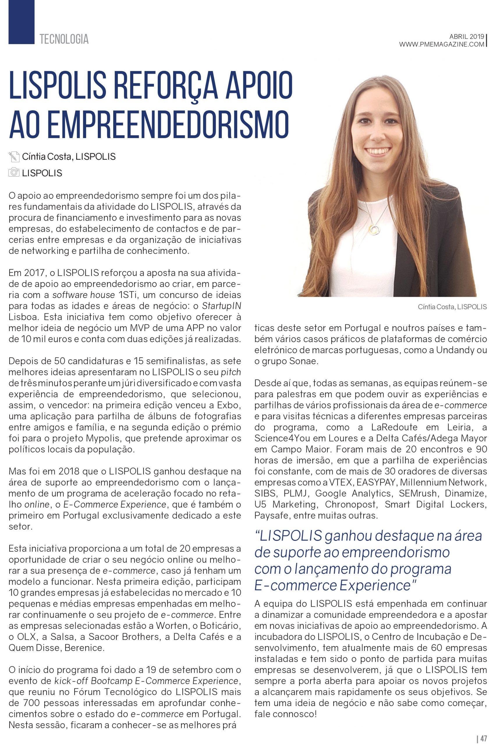 LISPOLIS reforça apoio ao empreendedorismo